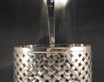 Silver Plated Basket. Vintage Metal Basket. Silver Fruit Basket. Metallic Basket.