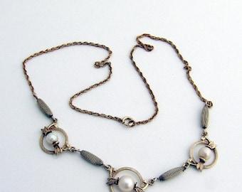 SaLe! sALe! Retro Necklace Pearls Sterling Silver