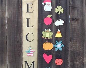 Farmhouse style Seasonal Welome sign