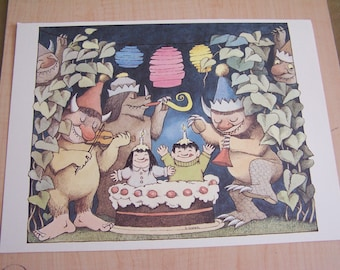 Maurice Sendak Print Happy Birthday