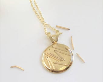 Dainty Gold Necklace - Reclaimed - Minimalist Necklace - Mom - Computer Gold - Techie Gifts - Computer Science - Nerd - Unique Jewelry - Eco