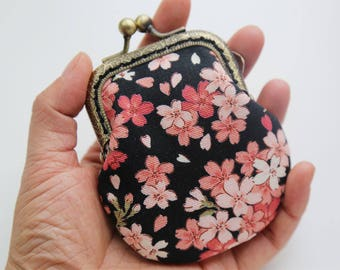 Japanese Floral little jewelry purse coin Purse
