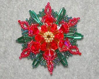 Christmas Poinsettia pdf beading tutorial
