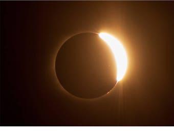 Fine Art Landscape Photography - Solar Eclipse 10 Seconds 2017, nature photography, Solar Eclipse 2017, Sun, Moon, Space, Prints, Canvas