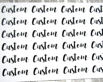 Custom Script Stickers, Clear Stickers, Transparent Stickers