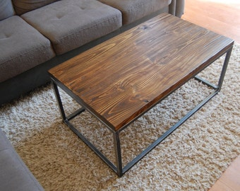 Rustic Industrial Coffee Table || FREE SHIPPING