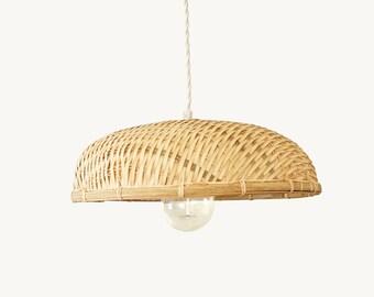 Woven lamp shade etsy bamboo pendant lamp woven bamboo pendant light bamboo basket flat lampshade aloadofball Images