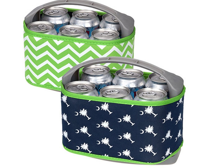 Palmetto Can Cooler, Monogrammed Can Cooler, Can Cooler, Six Pack Can Cooler, Monogrammed Cooler, Gift for Her, Cooler