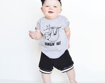 baby shorts - toddler shorts - shorties - black shorts