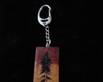 handcrafted wooden keychain