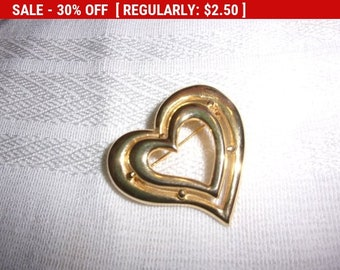 vintage heart brooch, vintage brooch, estate jewelry