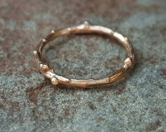Rose Gold Band, Wedding Band, Womens Wedding Band, Gold Band, Rose Gold, Wedding Bands Women, Gold Band, Twig Ring, Rose Gold Ring, Rings