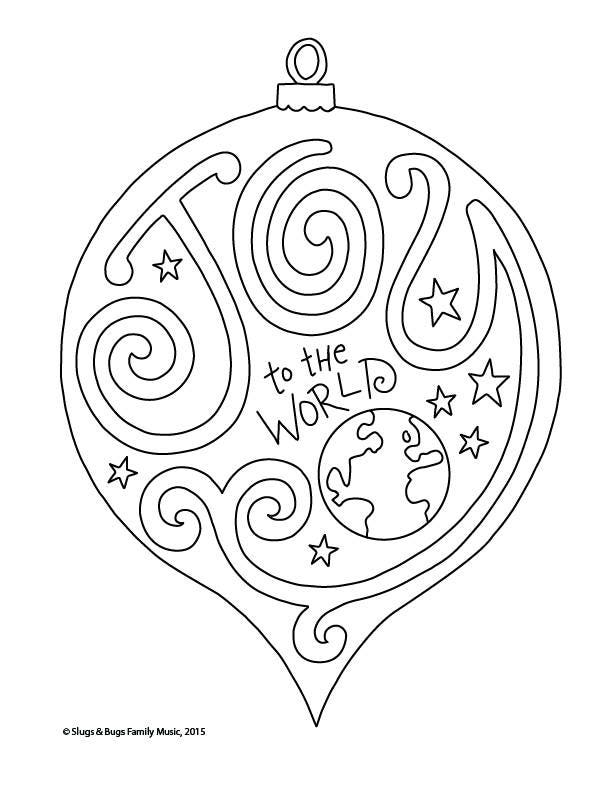 Joy to the World Christmas Coloring Page / Kids Holiday