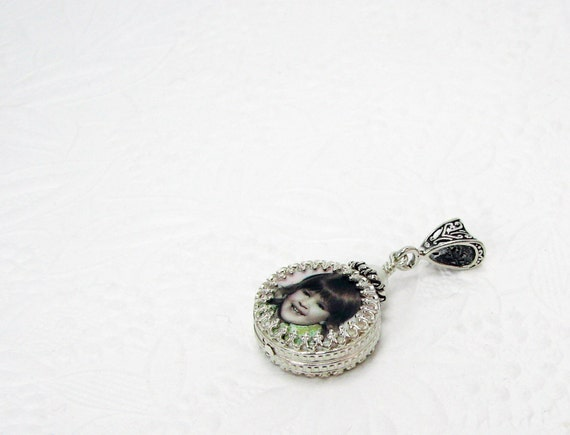 A Custom Photo Pendant Wrapped in a Gorgeous Sterling Silver Frame - XSM - WC6CNf - THE DELANEY