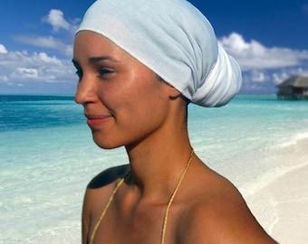 White Head Wrap % Cotton Scarves Bandana
