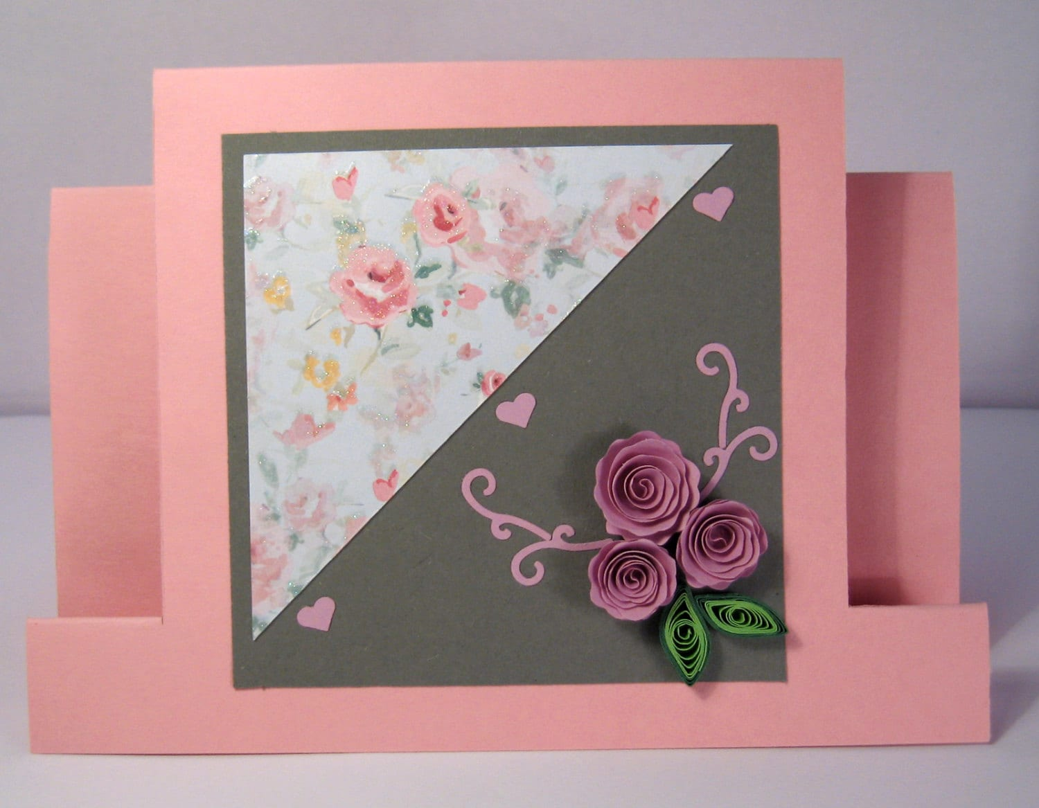 Handmade quilling birthday card quilled flowers design zoom kristyandbryce Images
