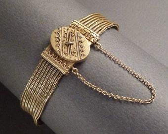 14K Victorian Etruscan Woven Bracelet