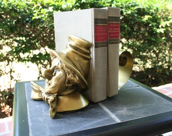 PM Craftsman Lakeland Fl Brass Clown Bookend