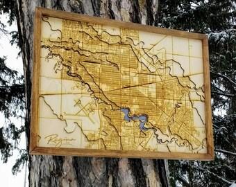 """Regina Map - 17""""x23"""""""