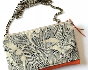 STAN handbag in orange leather