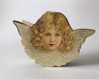 Vintage Merrimack Cardboard Angel Box Case Ornament