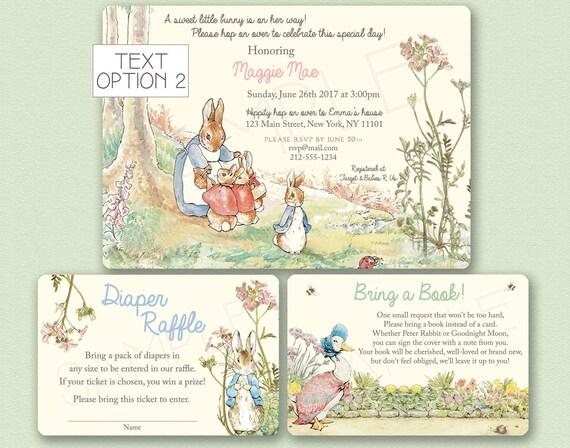 Exceptional Peter Rabbit Baby Shower Invitation Peter Rabbit Invitation