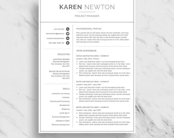 modern day 2 page resume minimalist april onthemarch co