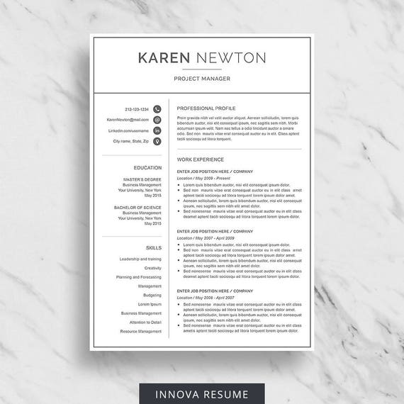 modern resume template for word minimalist resume design 2 - Minimalist Resume Template