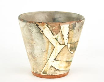 Small Cup with Fractured Pattern