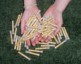 50 Gold flake vials
