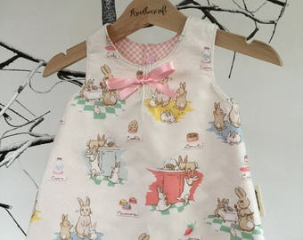 A-Line Reversible pinafore baby dress