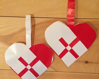 Set of 12 Swedish Braided Hearts
