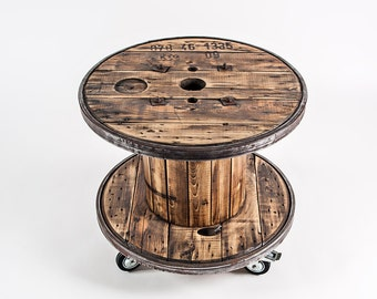 Cable Drum Coffee Table Nature