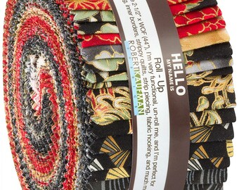 """Robert Kaufman Imperial Collection Crimson Jelly Roll 2.5"""" strips"""