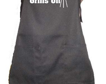 I TURN GRILLS ON Apron Accessory Grill Grilling Cover Up Funny Humor