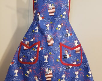 Snoopy 4th of July Apron