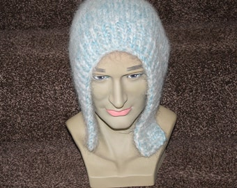 Hand knitted pixie peak beanie