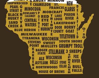 Drink Local- Wisconsin Beer T-shirt