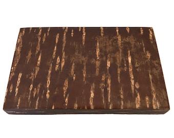 Handmade Japanese papeterie box - lacquered cherry birch tree bark - Fujiki - Kabazaiku