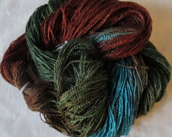 Handpainted Yarn-Soft Rayon Boucle Sport Wt. - 300 yds - JUNIPER HILLS