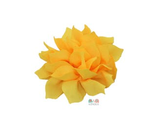Yellow DIY Satin Fabric flower Layered chiffon Flowers , Fabric Flower, Craft Supplies, DIY Flower, DIY supplies, Embellishment