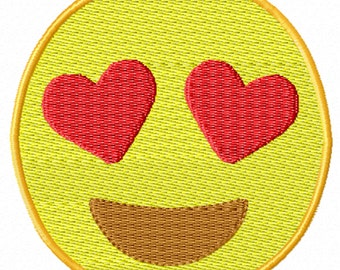 Love Emoji -A Machine Embroidery Design