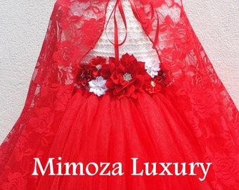 Little Red Riding Hood Lace Cape to complement the Princess Tutu Dress