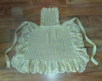 Hand Crocheted Apron