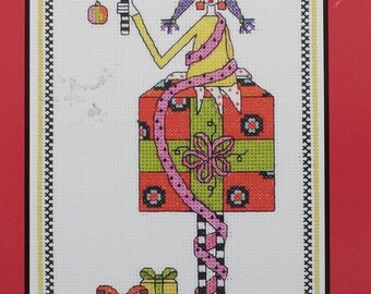 Cross stitch kit, Dolly Mama Best Stressed unopened cross stitch kit 019-0420, Janlynn, Christmas picture, funny holiday gift, stitcher gift