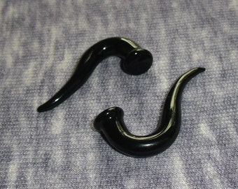 Obsidian Talons 0g gauged ear plugs earrings talons for stretched piercings