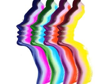 Taste the Rainbow, print from original gouache fashion illustration by Jessica Durrant