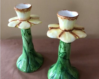 Daffodil Candlestick Holders
