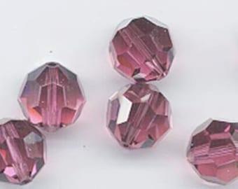 "12 Swarovski crystals with ""satin"" effect - art. 5000 - rose satin - 8 mm"