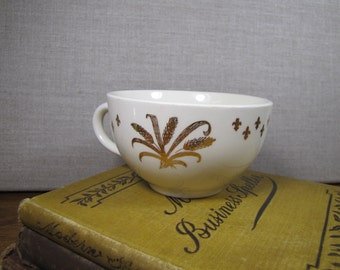 Vintage Golden Wheat Teacup